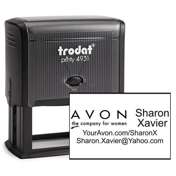 Custom Avon Consultant Stamp Style 2