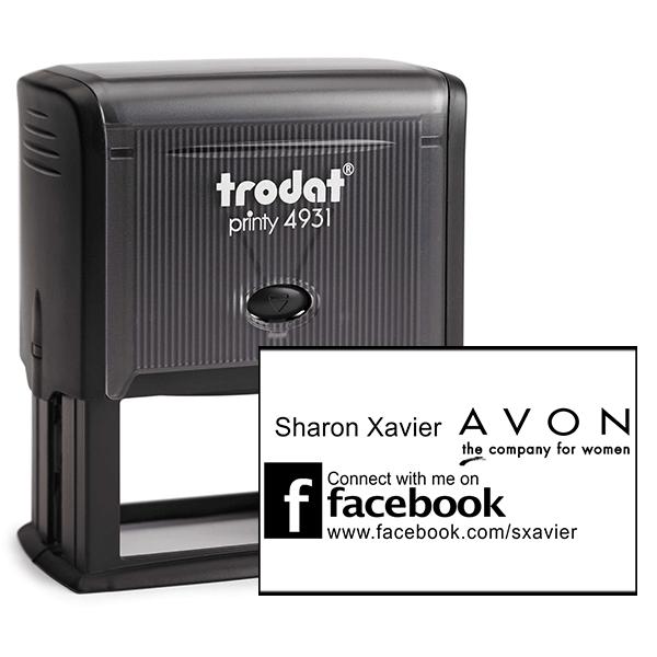 Custom Avon Consultant Stamp Style 11