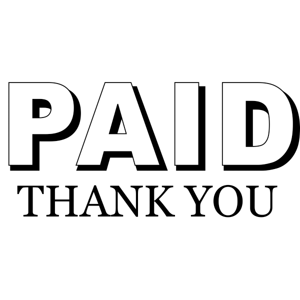 Paid Thank You Stamp