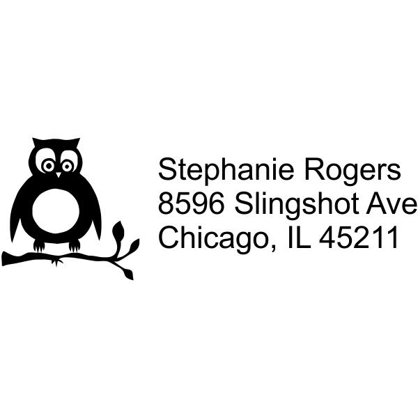 Cute Owl Address Stamp