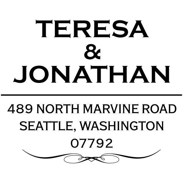 Marvine Address Stamp