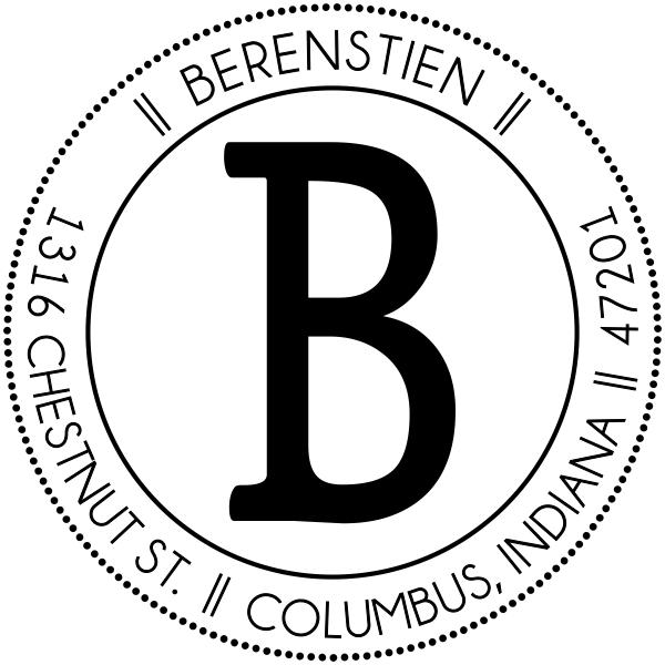 Berenstein Round Address Stamp