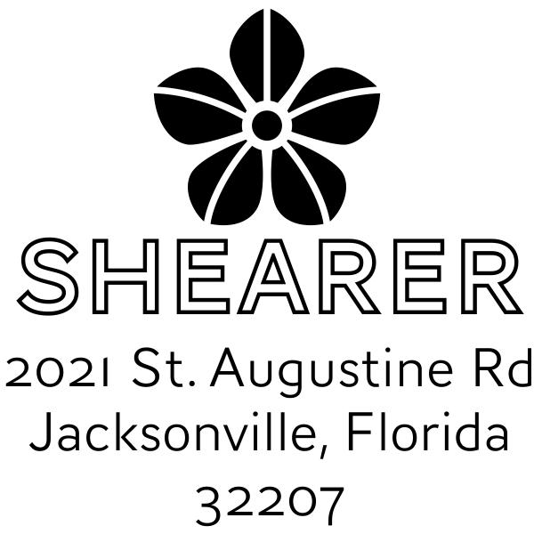 Manning Flower Square Address Stamp