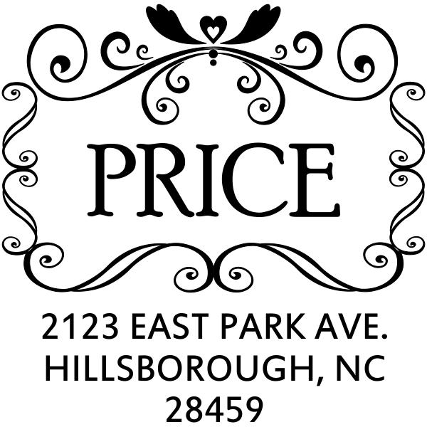 Price Curves Square Address Stamp