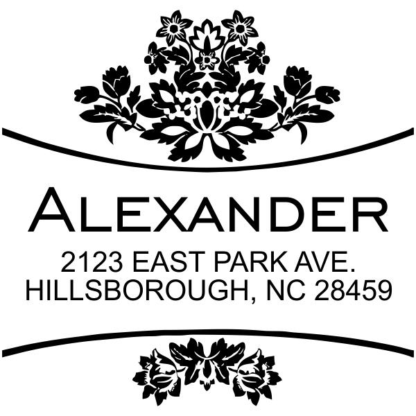 Alexander Curves Square Address Stamp