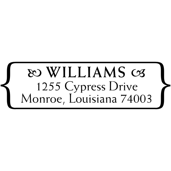 Williams Plate Address Stamp