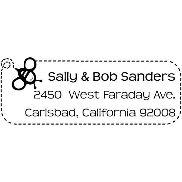 Sanders Bee Address Stamp