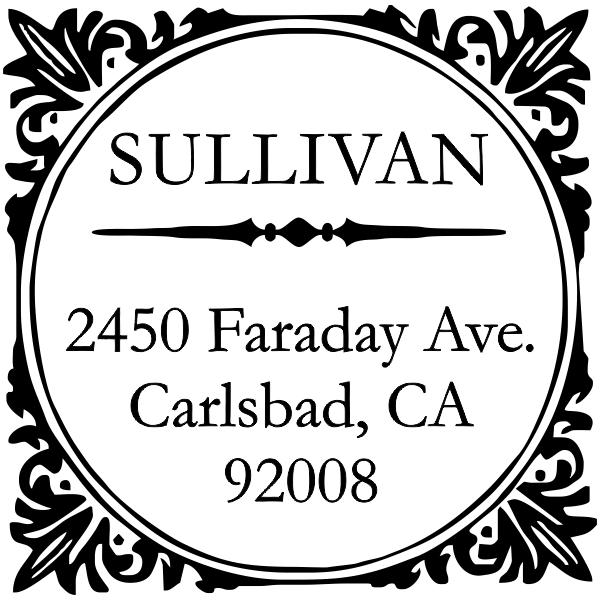 Sullivan Square Address Stamp