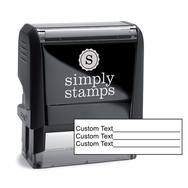 Custom 3 Line Text With Form Stamp