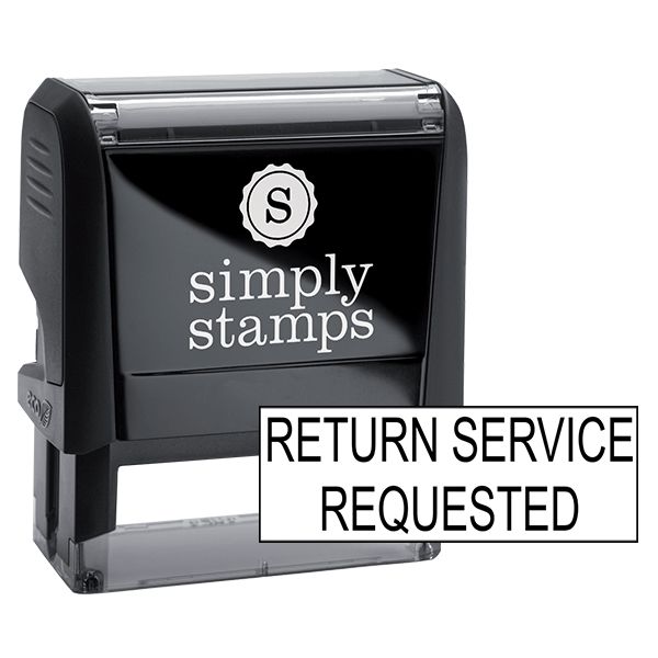 Return Service Requested Stock Stamp
