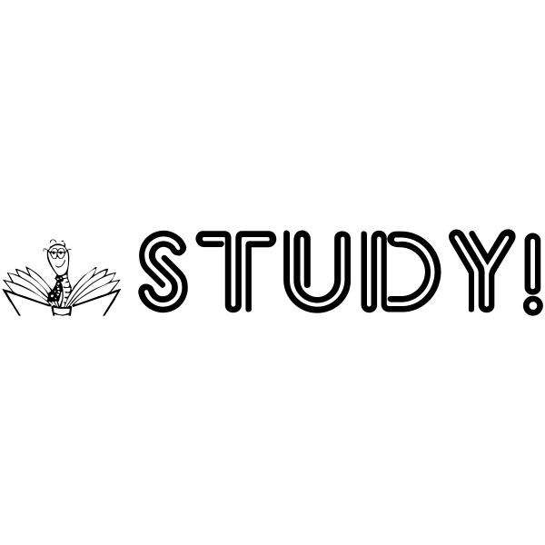 Assignment - STUDY Book Worm Rubber Teacher Stamp