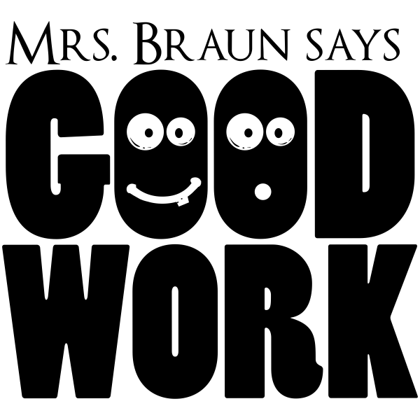 Feedback - GOOD WORK Cartoon Faces Rubber Teacher Stamp