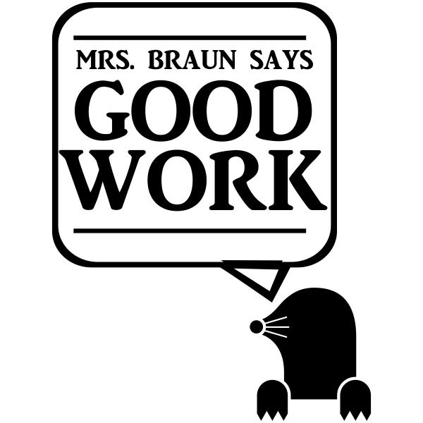 Feedback - GOOD WORK Otter Rubber Teacher Stamp
