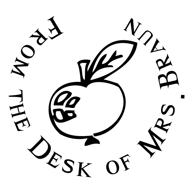 From The Desk Of - Apple Rubber Teacher Stamp