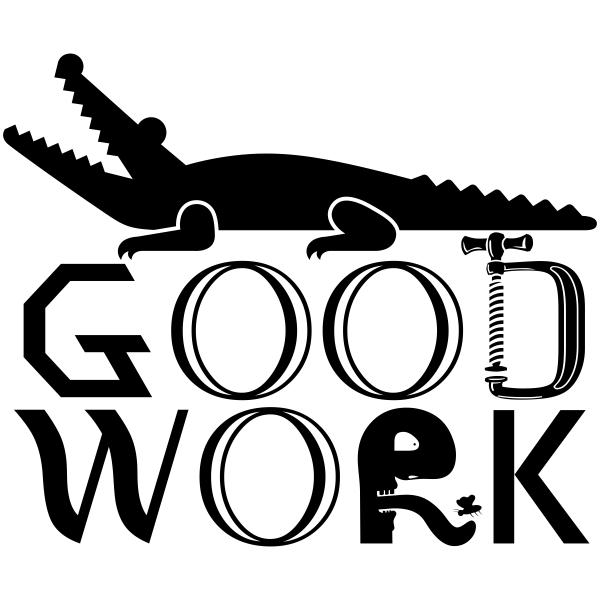 Feedback - GOOD WORK Alligator Rubber Teacher Stamp