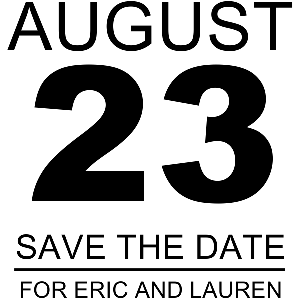 Calendar Page Save The Date Rubber Stamp