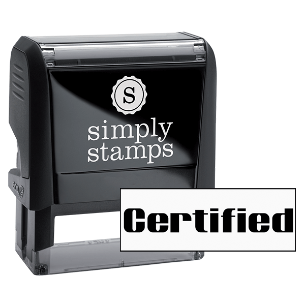 Certified Computer Office Stock Stamp