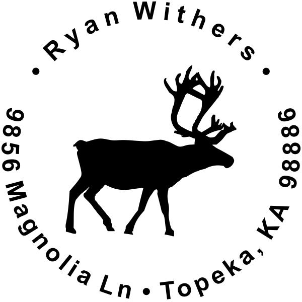 Holiday Reindeer Custom Return Address Stamp