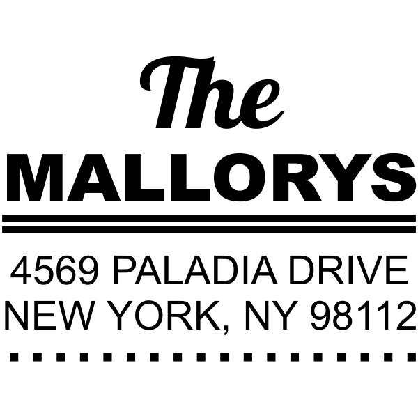 Metro Square Style 1 Address Stamp