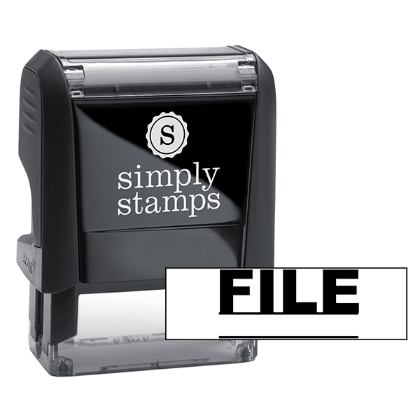FILE Underlined Stock Stamp