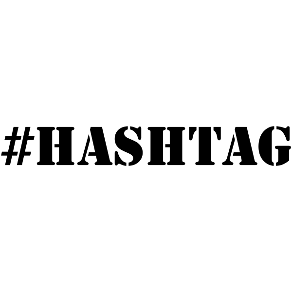 HASHTAG Rubber Stamp