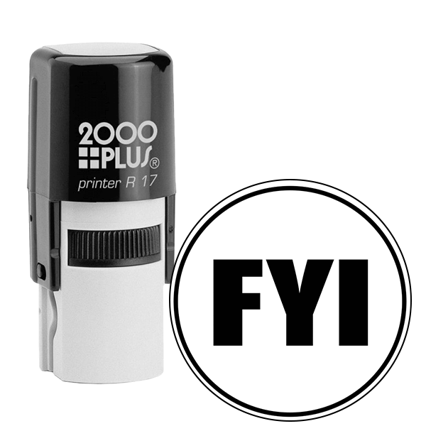 FYI Round Stock Stamp