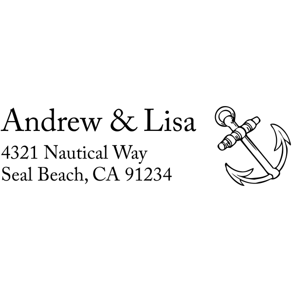 Ships Anchor Address Stamp