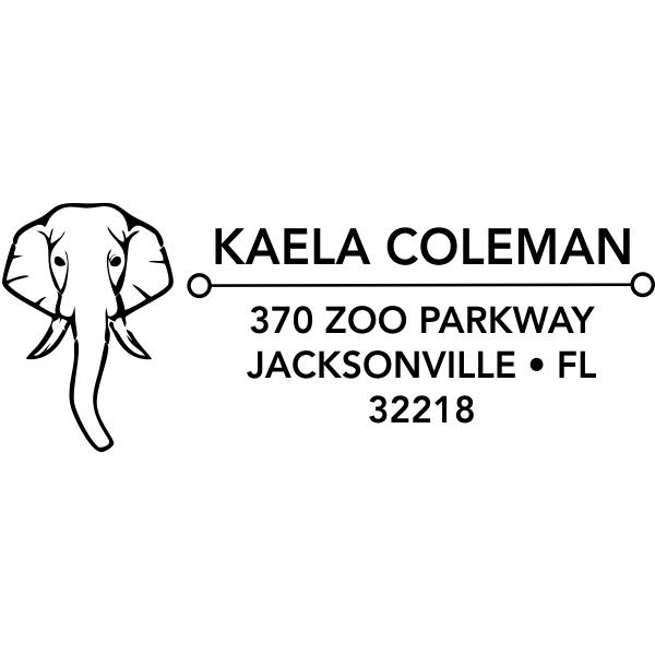 Elephant Face Address Stamp