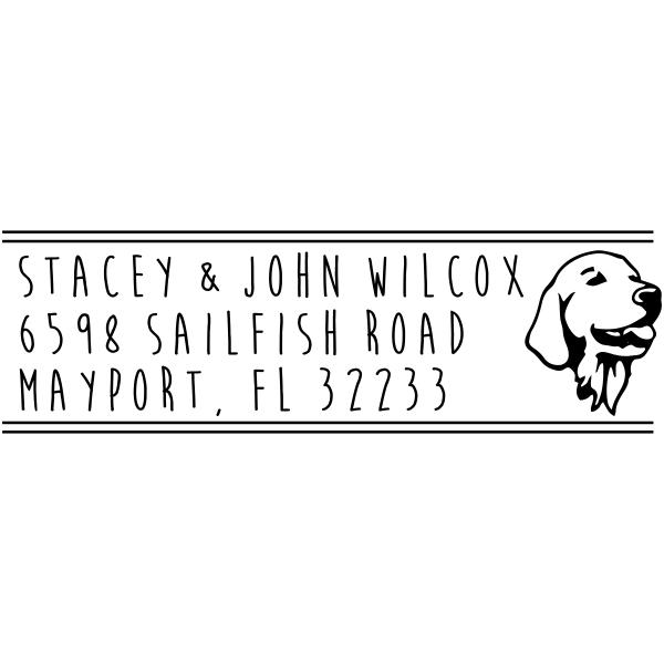 Retriever Dog Address Stamp