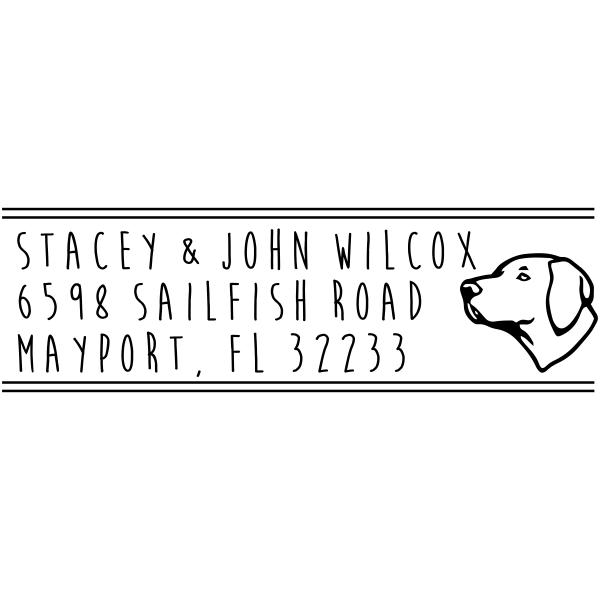 Lab Pointer Dog Address Stamp