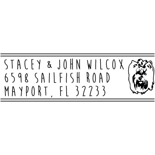 Silky Terrier Dog Address Stamp