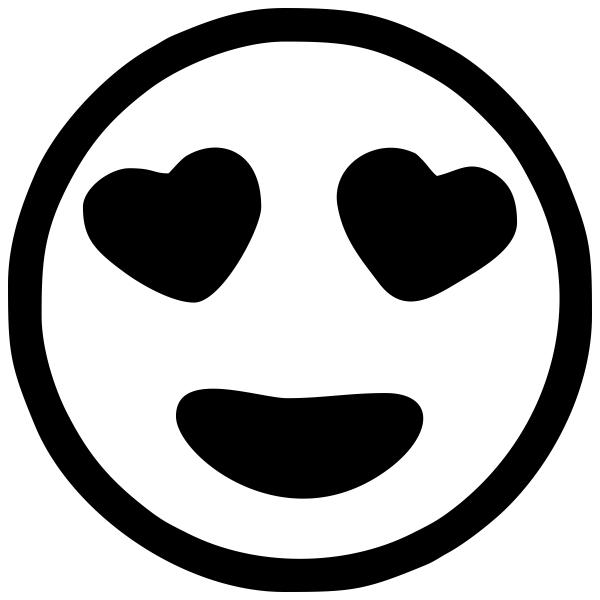 Heart Eyes Emoji Stamp