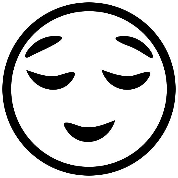 Pleased Face Emoji Stamp