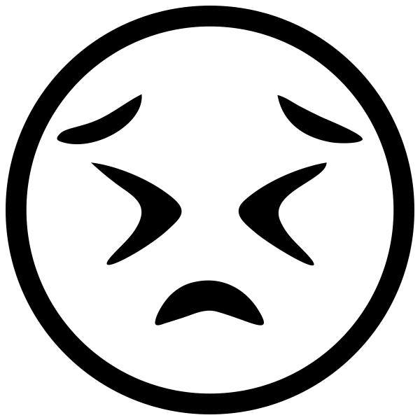 Frustrated Face Emoji Stamp