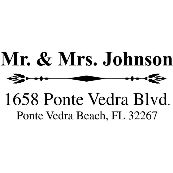 Unique address stamp