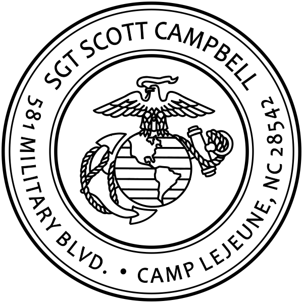 Return Address United States Marine Corps Stamp