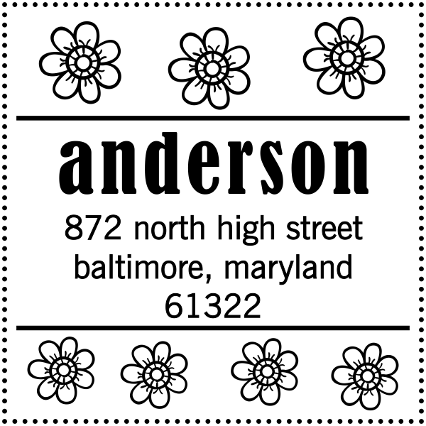 Anderson Flowers Address Stamp