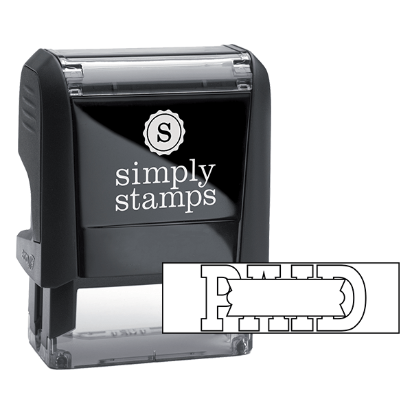 PAID Hollow Stock Stamp