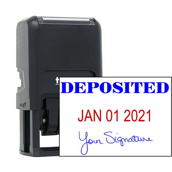 Deposited Signature Date Rubber Stamp