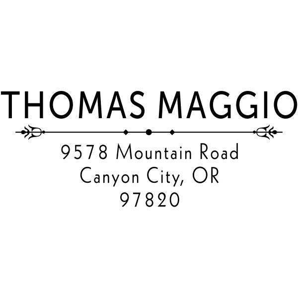 Maggio Deco Rubber Address Stamp