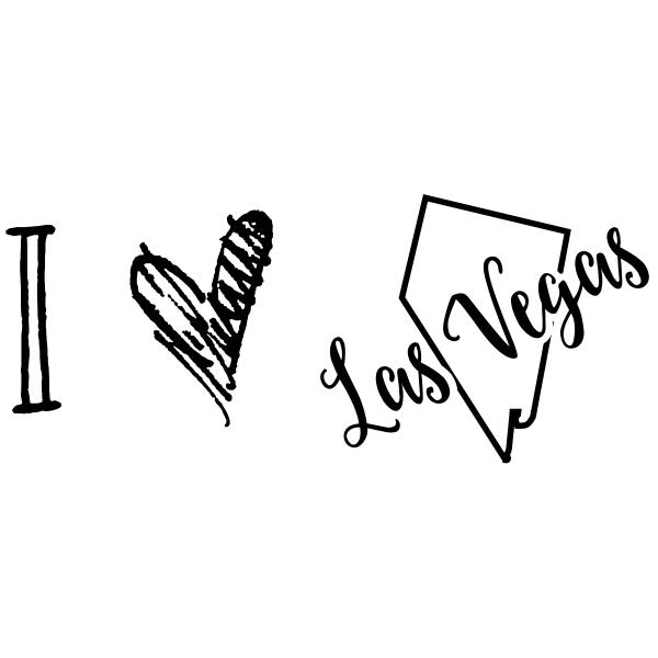 I Love Nevada Rubber Stamp