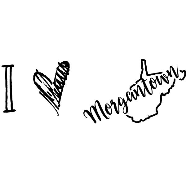 I Love West Virginia Rubber Stamp