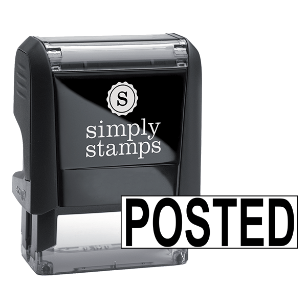 POSTED Bold Stock Stamp