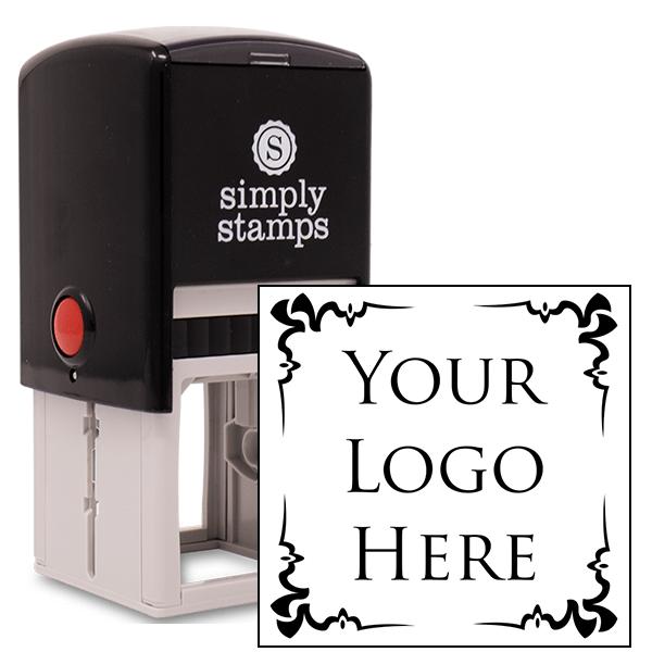 4 Corner Deco Border Logo Stamp