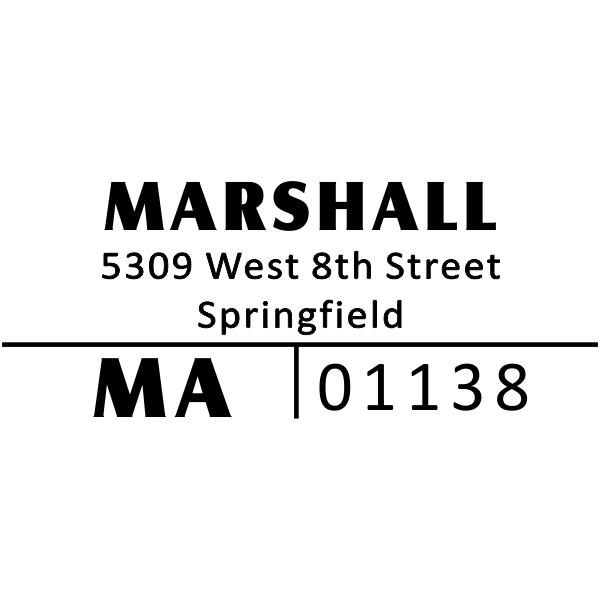 Split Line Return Address Stamp