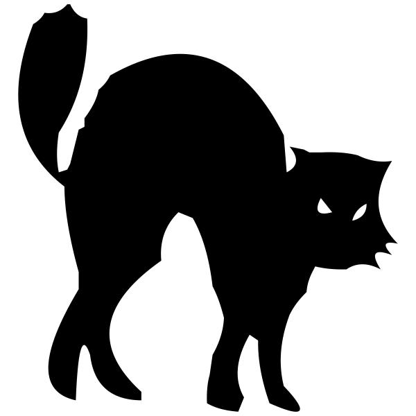 Black Cat Halloween Craft Rubber Stamp