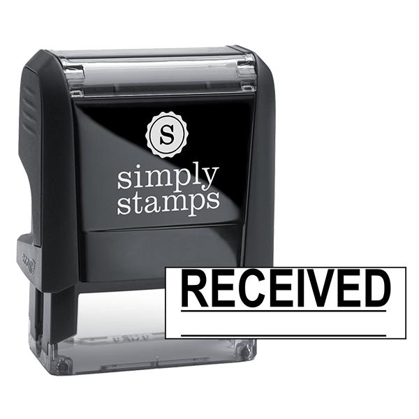 RECEIVED Underlined Stock Stamp