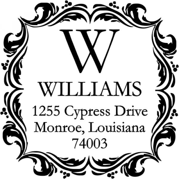 Square return address stamp