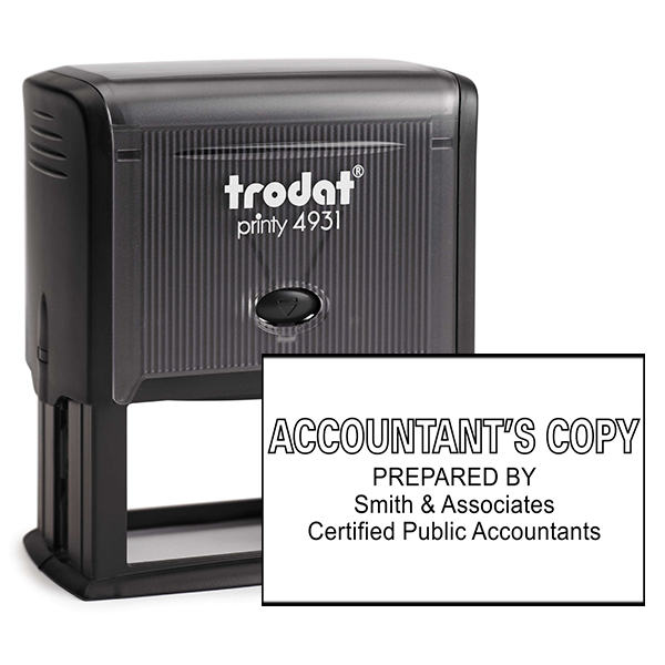 Accountants Copy Stamp Outlined