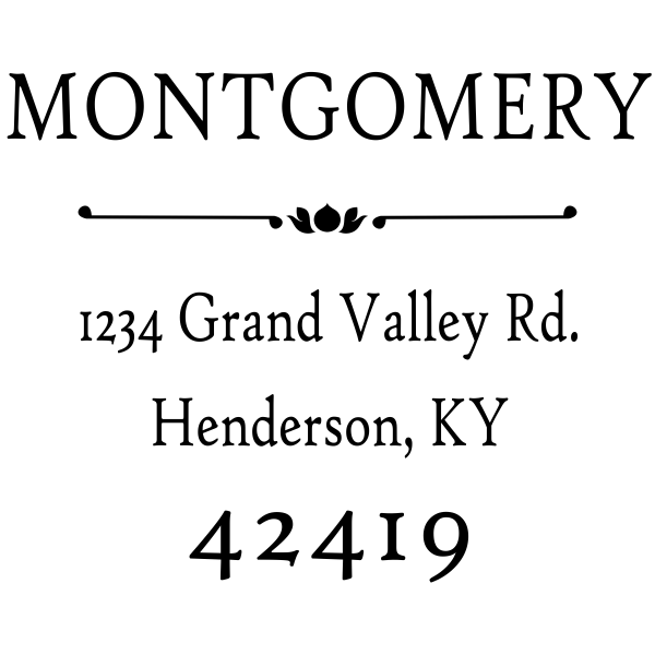 Montgomery Flower Deco Address Stamp